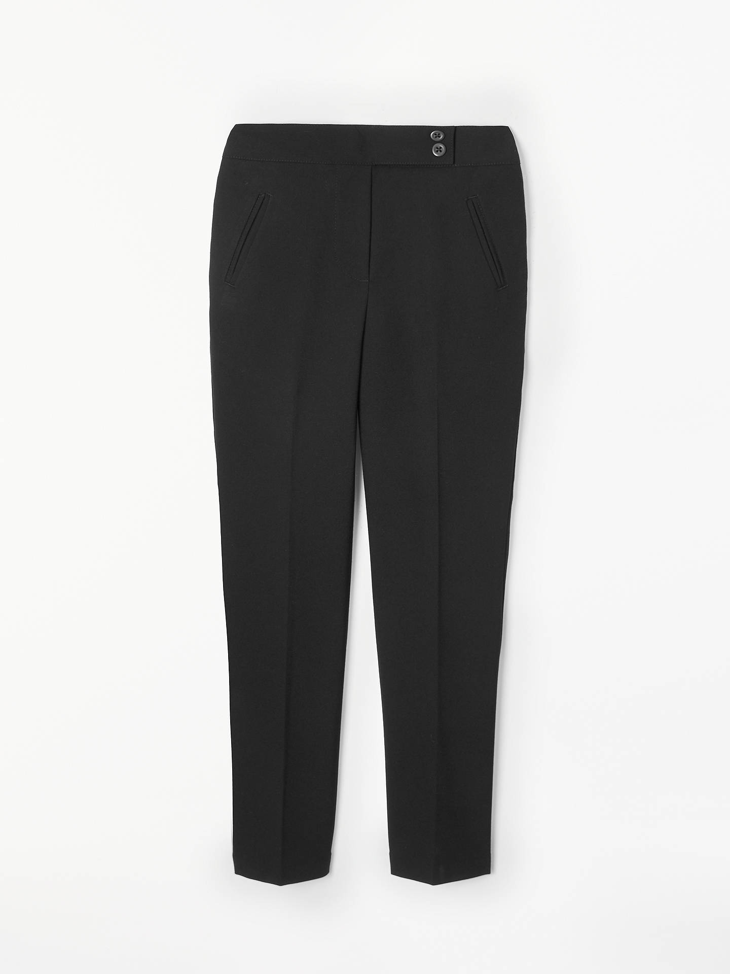 BuyJohn Lewis & Partners Girls' Easy Care Adjustable Waist Button School Trousers, Black, 4 years Online at johnlewis.com