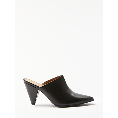 Kin by John Lewis Ceres Mule Court Shoes, Black Leather