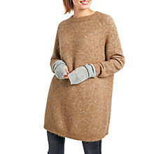 Buy hush Jada Knit Tunic Jumper, Brown Sugar Online at johnlewis.com