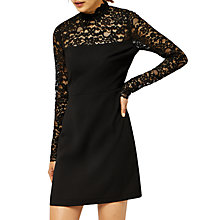 Buy Warehouse Lace Top Dress, Black Online at johnlewis.com