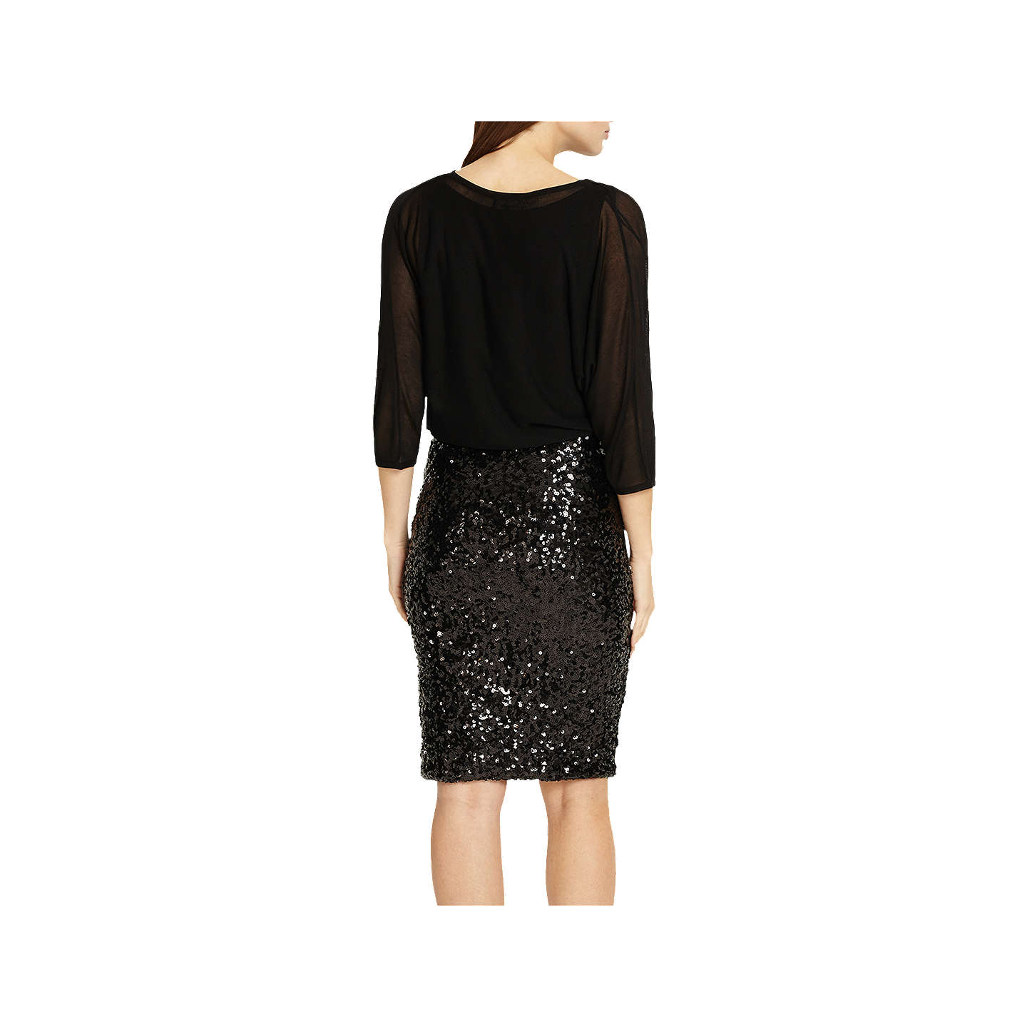 BuyPhase Eight Adele Sequin Dress, Black, 8 Online at johnlewis.com