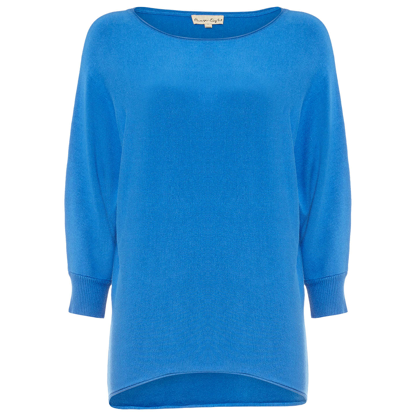 BuyPhase Eight Becca Smart Batwing Jumper, Cornflower, XS Online at johnlewis.com