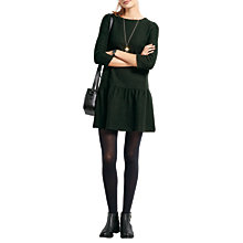 Buy hush Cicely Pure Wool Dropped Waist Dress, Forest Marl Online at johnlewis.com