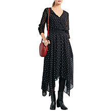 Buy hush Feather Cosmos Dress, Feather Black/White Online at johnlewis.com