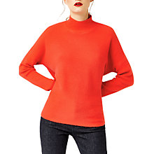 Buy Warehouse Boxy Funnel Neck Ribbed Jumper Online at johnlewis.com