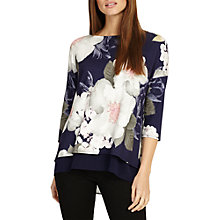 Buy Phase Eight Bertha Floral Top Online at johnlewis.com