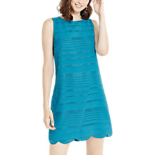 Buy Oasis Grid Stripe Shift Dress, Turquoise Online at johnlewis.com