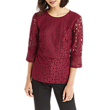 Buy Oasis Kick Sleeve Lace Top Online at johnlewis.com