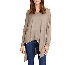 Buy Phase Eight Abaranne Asymmetric Hem Knitted Jumper, Silver Online at johnlewis.com