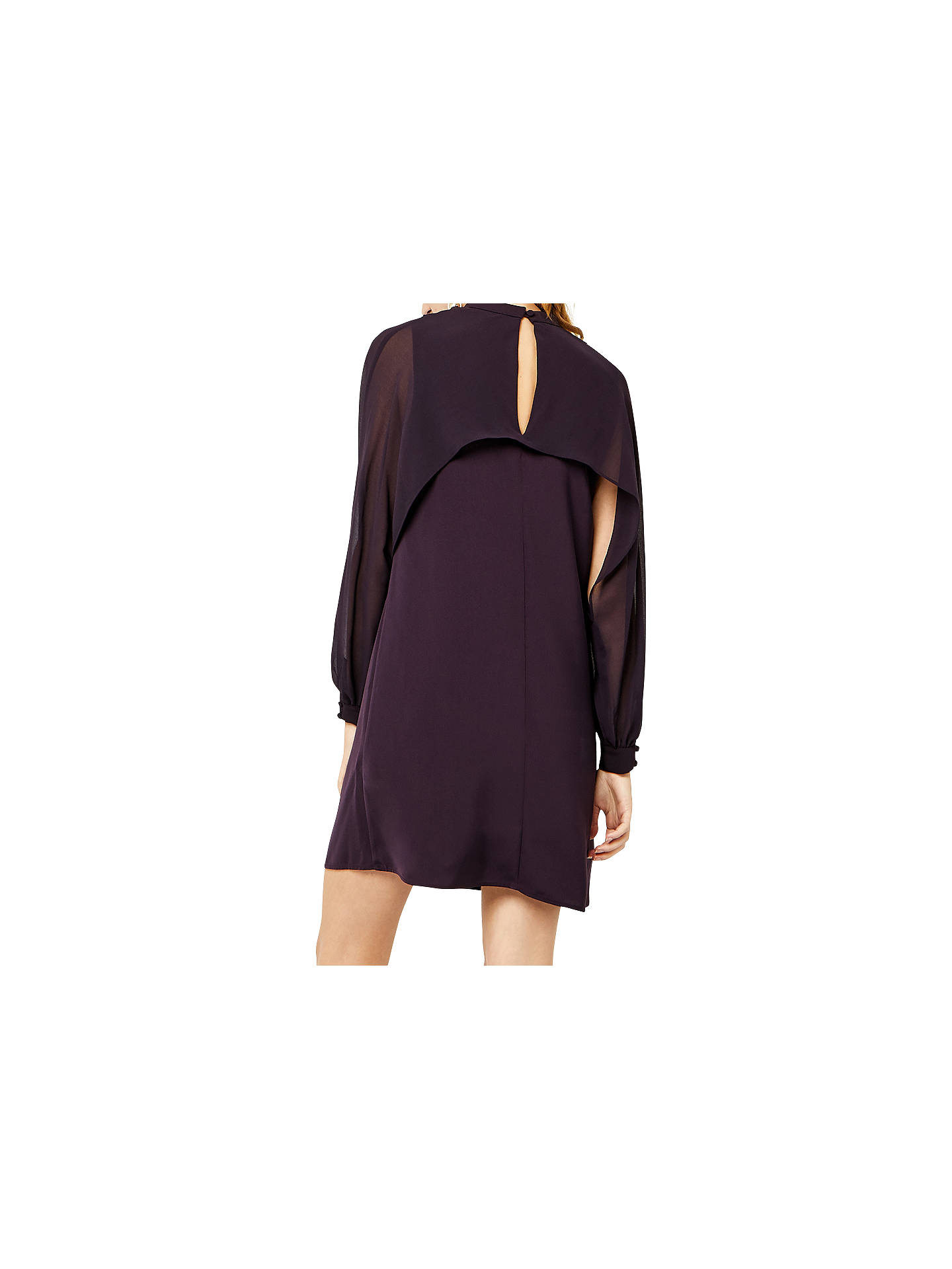 BuyWarehouse Layered Cape Dress, Dark Purple, 6 Online at johnlewis.com