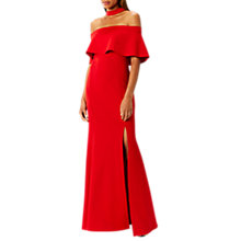Buy Coast Nica Choker Scuba Dress, Red Online at johnlewis.com
