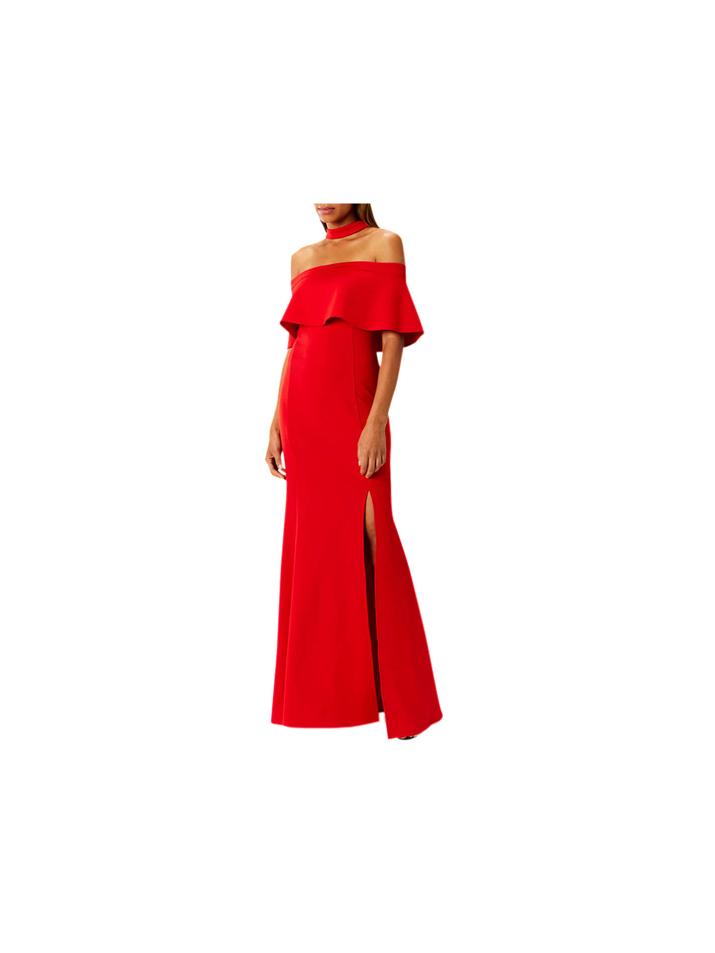 37990818e8c Buy Coast Nica Choker Scuba Dress, Red, 6 Online at johnlewis.com ...
