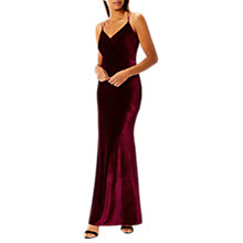 Buy Coast Kayla Velvet Cami Dress, Merlot Online at johnlewis.com