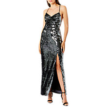 Buy Coast Kadie Sequin Maxi Dress, Silver Online at johnlewis.com
