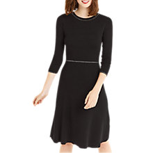 Buy Oasis NTU Fit And Flare Dress, Black Online at johnlewis.com