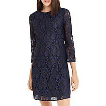 Buy Oasis NTU Two Tone Lace Shift Dress, Blue Online at johnlewis.com