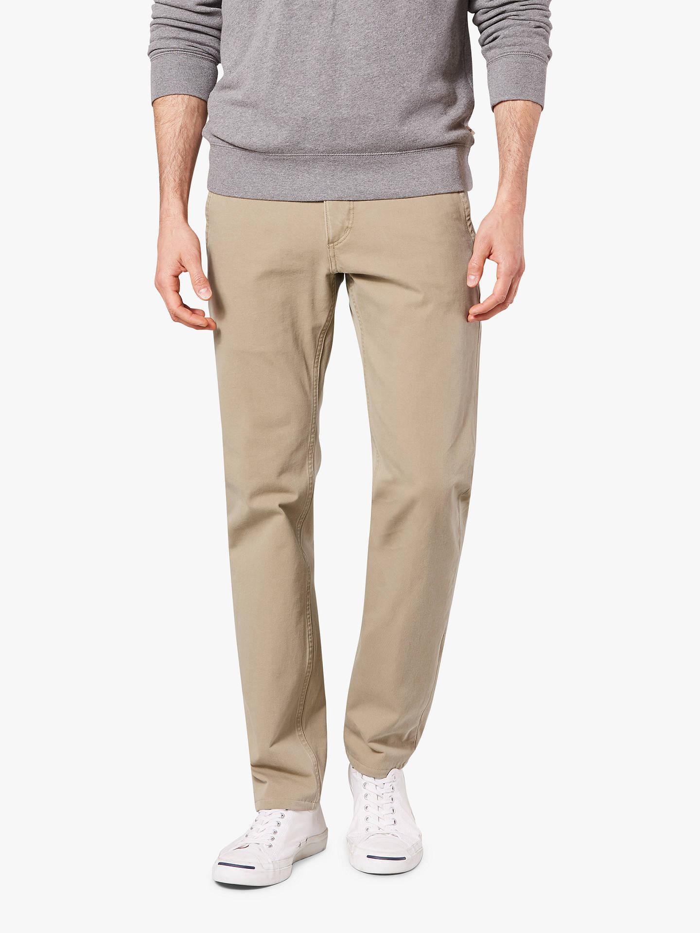 1cc5ed87019bd8 Buy Dockers Alpha Khaki Smart 360 Flex Slim Tapered Trousers, New British  Khaki, 32S ...