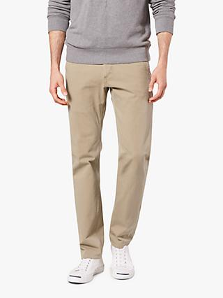 Dockers Alpha Khaki Smart 360 Flex Slim Tapered Trousers