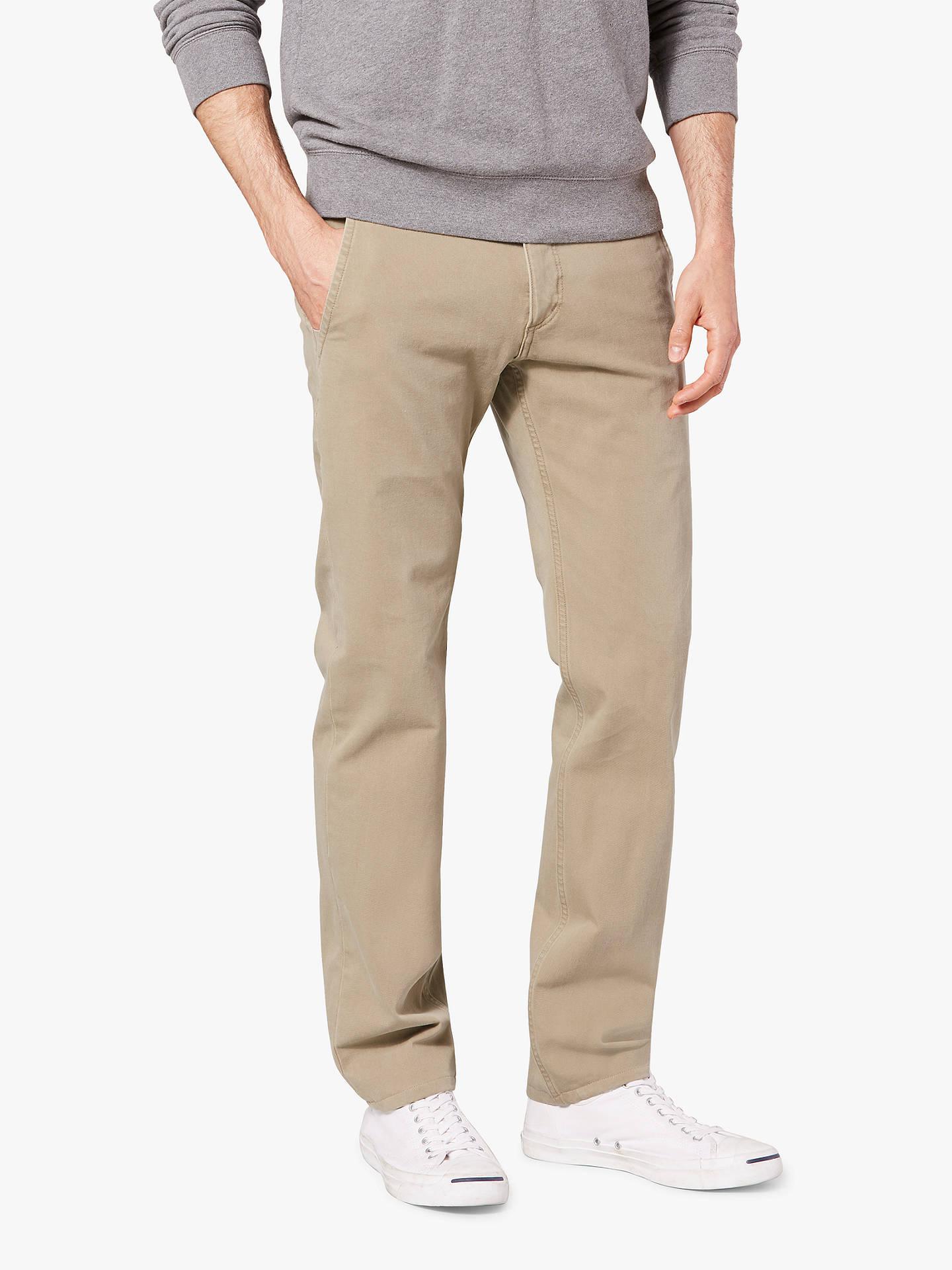a4cde824d6e054 ... Buy Dockers Alpha Khaki Smart 360 Flex Slim Tapered Trousers, New  British Khaki, 32S ...