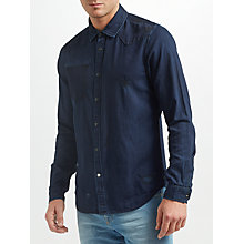 Buy Scotch & Soda Pocketless Denim Shirt, Midnight Online at johnlewis.com