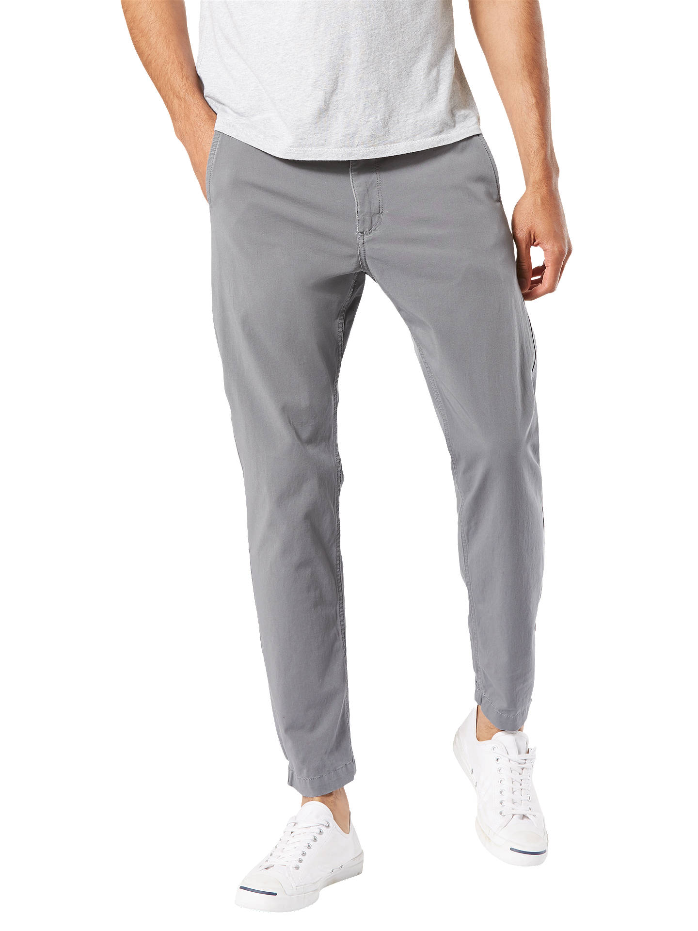 Buy Dockers 360 Alpha Smart Jogger Trousers, Burma Grey, 36L Online at johnlewis.com