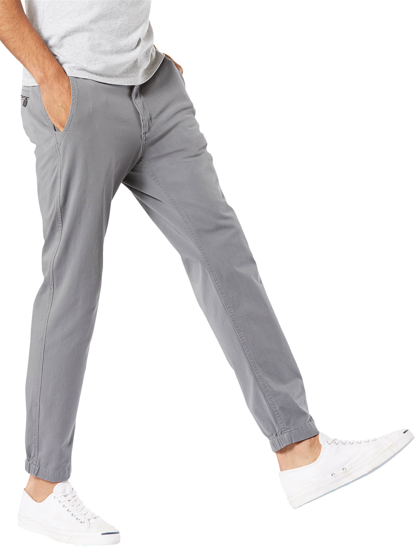 Buy Dockers 360 Alpha Smart Jogger Trousers, Burma Grey, 30R Online at johnlewis.com