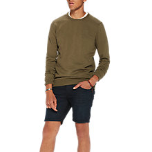 Buy Scotch & Soda GMD Sweatshirt Top, Military Green Online at johnlewis.com
