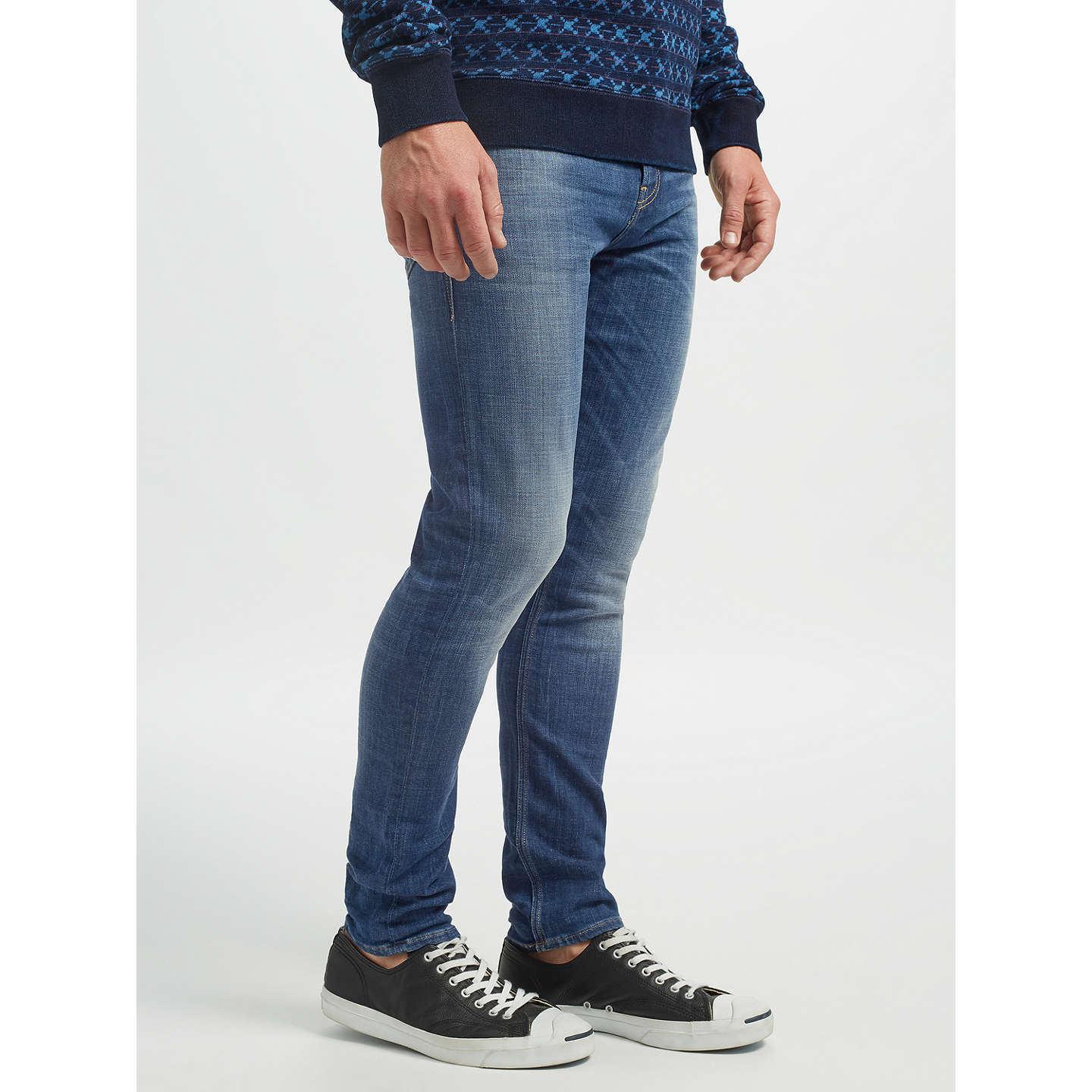 BuyScotch & Soda Stretch Skinny Jeans, Dutch Blauw, 32L Online at johnlewis.com