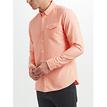 Buy Scotch & Soda Classic Oxford Long Sleeve Shirt, Faded Spice Online at johnlewis.com