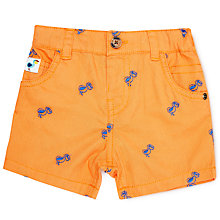 Buy John Lewis Baby Pelican Embroidered Shorts, Orange Online at johnlewis.com