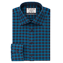 Buy Thomas Pink Holbrook Check Super Slim Fit Shirt, Teal/Blue Online at johnlewis.com