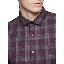 Buy Reiss Amarvi Check Long Sleeve Shirt, Red Online at johnlewis.com