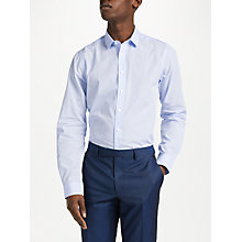 Buy John Lewis Fine Stripe Slim Fit Shirt, Blue Online at johnlewis.com