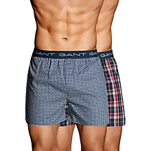 Buy Gant Winter Star Boxers, Pack of 2, Navy Online at johnlewis.com