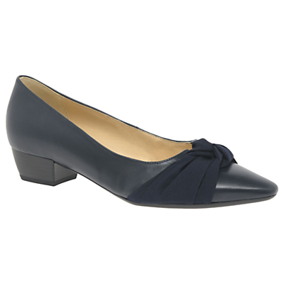 Gabor Fifi Bow Block Heeled Court Shoes
