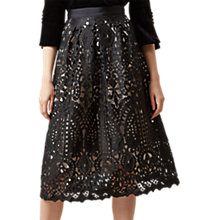 Buy Hobbs Zoella Lace Skirt, Black/Nude Online at johnlewis.com