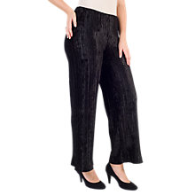 Buy Chesca Pleated Velvet Trousers, Black Online at johnlewis.com