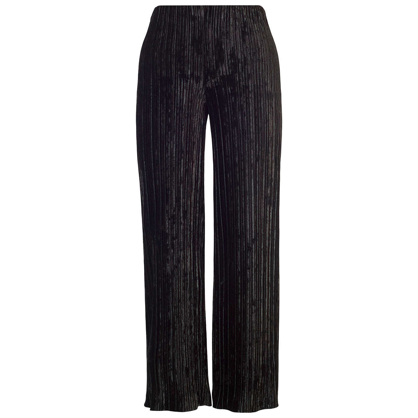 BuyChesca Pleated Velvet Trousers, Black, 12-14 Online at johnlewis.com