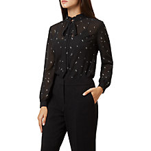 Buy Hobbs Luna Blouse, Black/Ivory Online at johnlewis.com