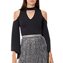 Buy Coast Brean Structured Sleeve Top, Black Online at johnlewis.com