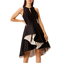 Buy Coast Adellea Ruffle Midi Dress, Black Online at johnlewis.com
