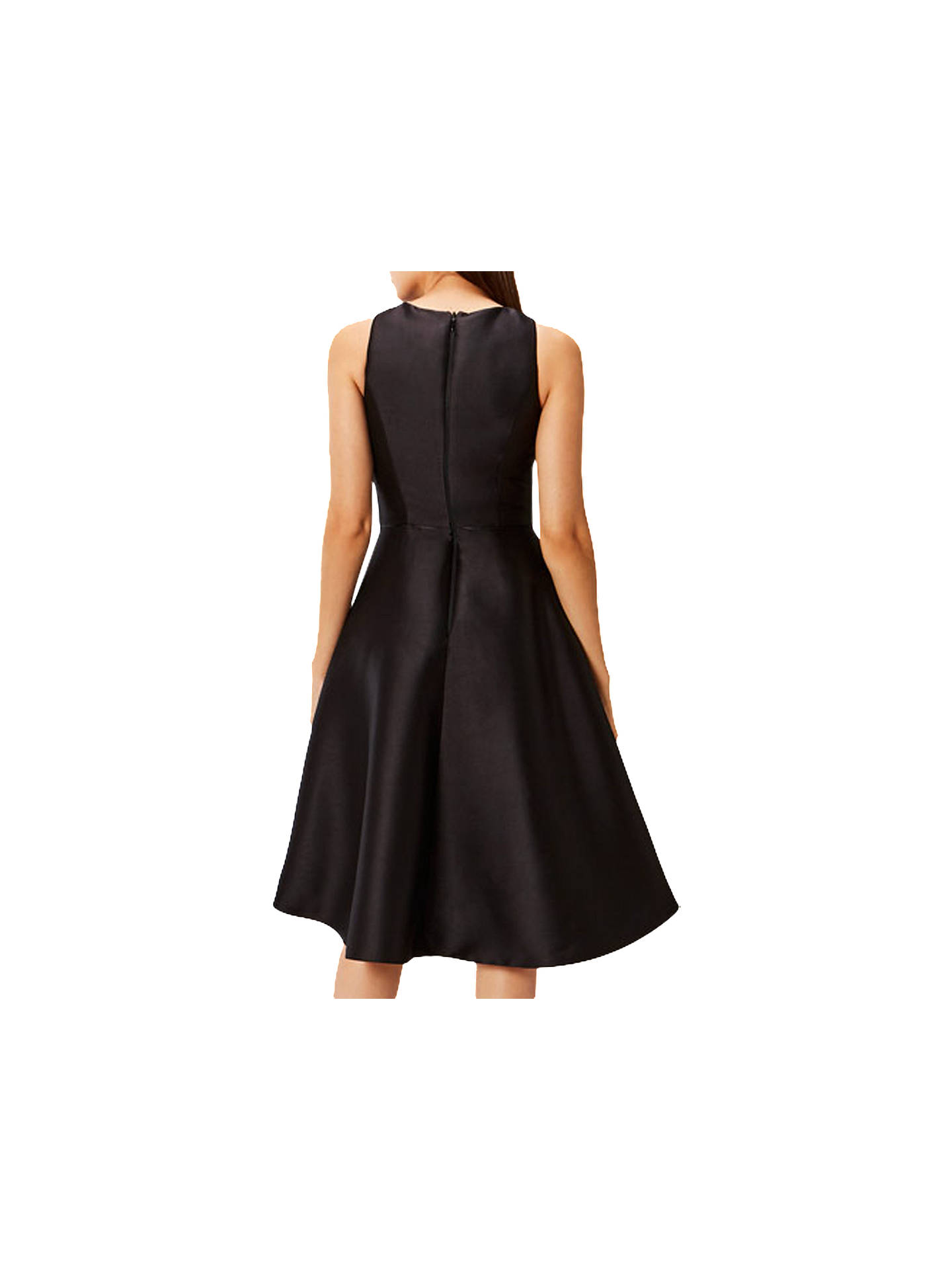 BuyCoast Adellea Ruffle Midi Dress, Black, 6 Online at johnlewis.com