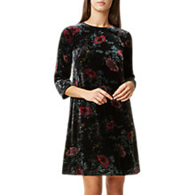 Buy Hobbs Agnes Velvet Printed Dress, Black/Multi Online at johnlewis.com