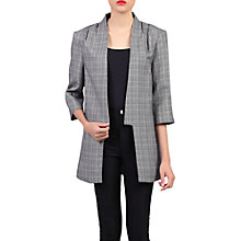Buy Jolie Moi Check Open Front Detail Blazer, Grey Online at johnlewis.com