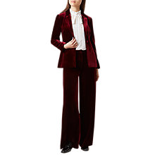 Buy Hobbs Elva Velvet Jacket, Mulberry Online at johnlewis.com