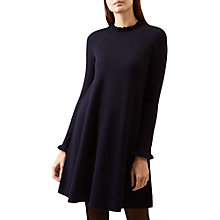 Buy Hobbs Hilda Knitted Dress, Navy Online at johnlewis.com