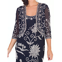 Buy Chesca Embroidered Beaded Bolero, Navy/Ivory Online at johnlewis.com