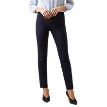 Buy Hobbs Susanna Trousers, Navy Online at johnlewis.com