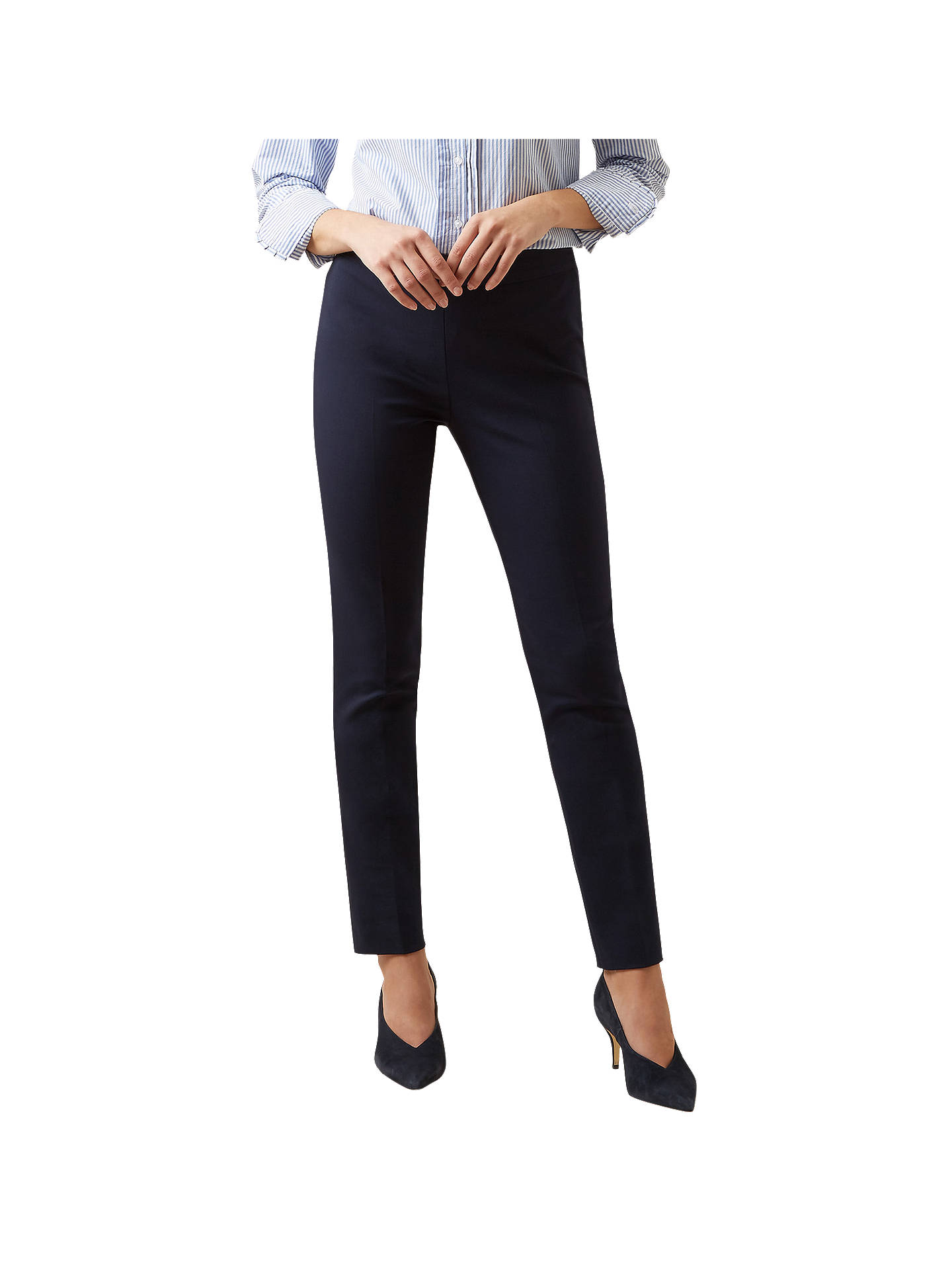 BuyHobbs Susanna Trousers, Navy, 6 Online at johnlewis.com