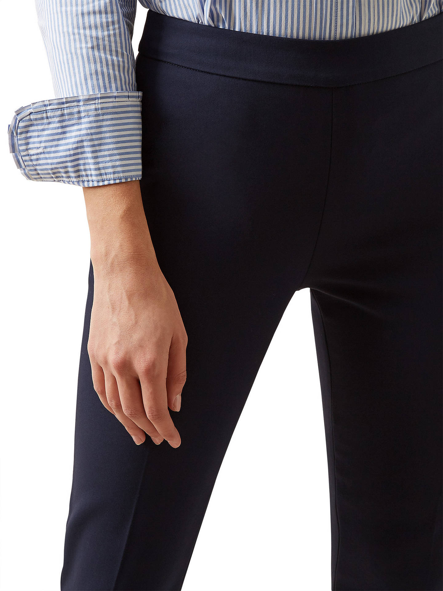 BuyHobbs Susanna Trousers, Navy, 18 Online at johnlewis.com
